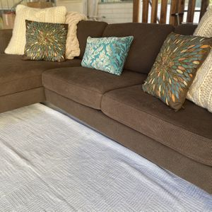$300 IKEA Karlstadt Sofa + Chaise Brown for Sale in Lakeside, CA