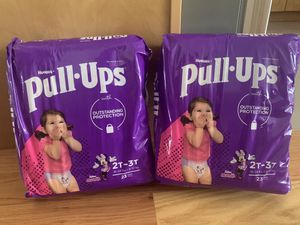 New 2x Huggies Pull-Ups 2T-3T Disposable Diapers Training Pants Baby Babies Girls Girl Toddlers for Sale in San Francisco, CA