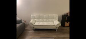 White Leather Futon for Sale in Golden, CO