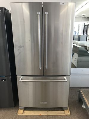 Fourth of July savings 20% off KitchenAid stainless steel three door refrigerator for Sale in Houston, TX