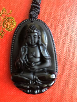 Obsidian carved god pendant necklace for Sale in Suisun City, CA