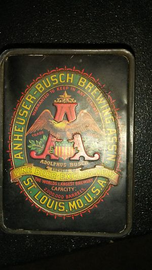 Old ANHEUSER-BUSCH BREWING tin and for Sale in Portland, OR