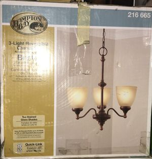 Hampton 3 light reversible Chandelier for Sale in Canoga Park, CA
