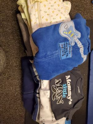 Lot of 10 piece onesies and footed pjs 0-3m for Sale in Parkland, FL