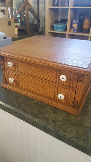 Antique oak spool cabinet for Sale in Oak Park, IL