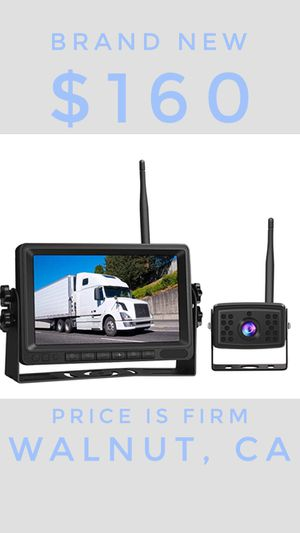 "Piroir Wireless Backup Camera System 7"" 720P HD Digital Monitor Waterproof Reverse Camera Kit for Trucks RV Trailer Pickup Bus Camping Car for Sale in Walnut, CA"