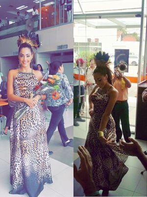 Leopard elegant long dress for Sale in Miami Beach, FL