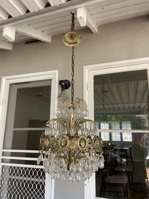 Large ornate hanging vintage CHANDELIER LAMP This is super retro awesome chandelier lamp. If we were to guess its around 24 inches tall This is a for Sale in Burbank, CA