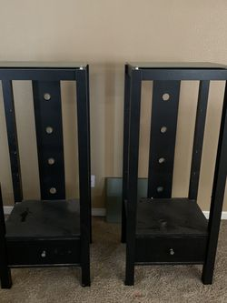 Black Shelves With Glass Top for Sale in Tulare,  CA