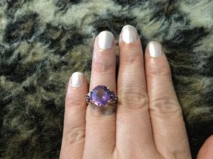 Gorgeous heavy 14k amethyst ring for Sale in Springfield, PA