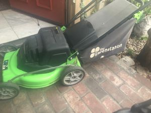 Green station electric lawnmower for Sale in Anaheim, CA