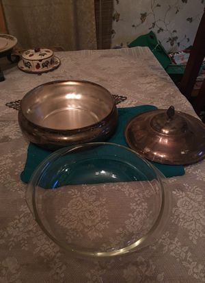 Three piece to peace brass serving dish for Sale in Pomona, CA