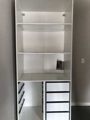 IKEA PAX system. Two closets WITH drawers, wire drawers, and all rods and shelves for Sale in Irving, TX