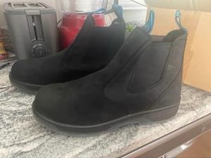 Worn once! Men's blue tongue size 12 work boots for Sale in Cincinnati, OH