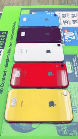 Apple iPhone XR 256Gb / 128Gb / 64Gb - Unlocked / ATT / T-Mobile / Metro Starting @ for Sale in Arlington,  TX