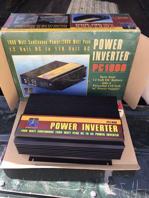 POWER TO GO PC1000 POWER INVERTER 1000 WATT CONTINUOUS 2000 WATT PEAK for Sale in Ventura, CA