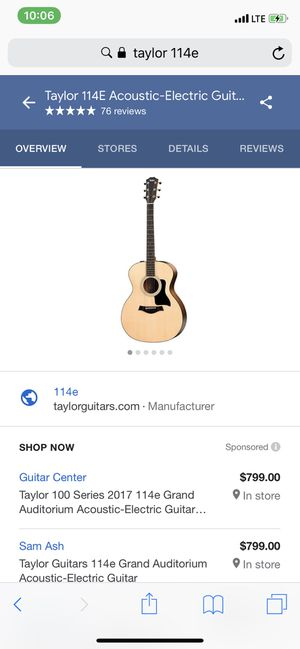Acoustic Electric Guitar for Sale in Los Angeles, CA