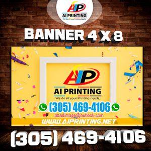 Banner 4x8 for Sale in Miami Gardens, FL