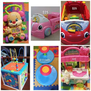 Kids Toys ! Sit n Spin , Activity Cube, Walkers and Laugh and Learn Cars - Located in Branford for Sale in Branford, CT