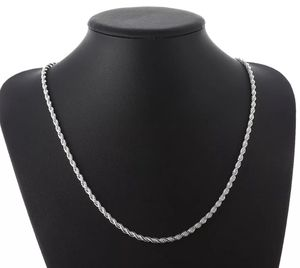New Sterling Silver Stamped 925 Rope Chain 4MM Necklace 20, 22, 24 Inch for Sale in Las Vegas, NV