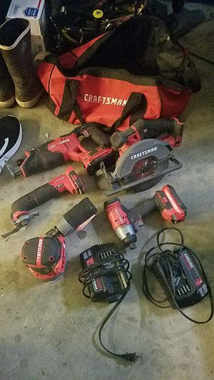 20V lithium Craftsman set for Sale in DONALDSONVLLE, LA