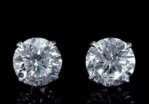 MATCHING 2.04 CARAT CERTIFIED DIAMOND STUD EARRINGS SCREW BACKS 14K WG for Sale in Las Vegas, NV