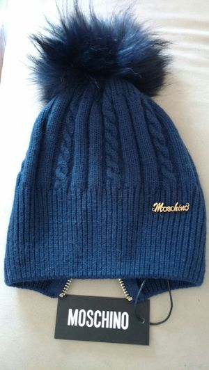 New Moschino wool hat with fur pom for Sale for sale  Brooklyn, NY