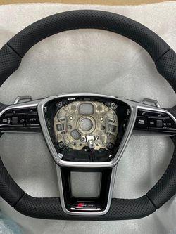 Audi RS - Flat Bottom Steering wheel (full leather) for Sale in Bellevue,  WA