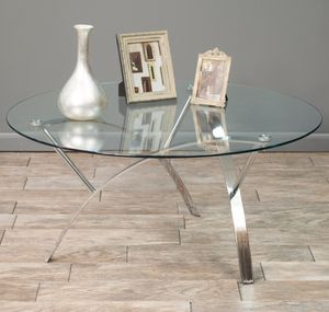 Glass Oval Large coffee table for Sale in Alexandria, VA