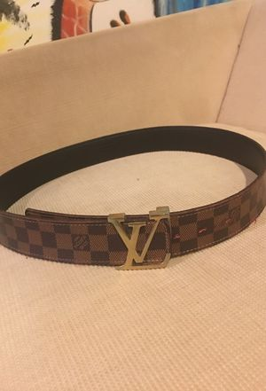 Brown Louis Vuitton belt for Sale in Mount Rainier, MD