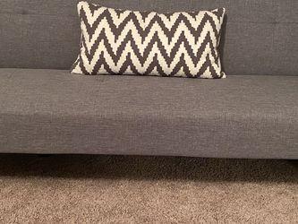 Grey Futon Sofa/Twin Bed for Sale in Suwanee,  GA