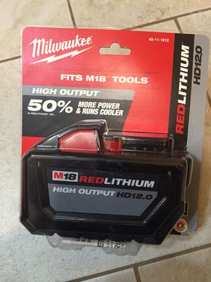 Milwaukee battery 12AH for Sale in San Francisco, CA