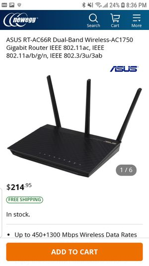 ASUS RT-AC66R Dual-Band Wireless-AC1750 Gigabit Router for Sale in Albuquerque, NM