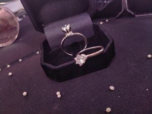 Promise solitaire ring silver for Sale in Fullerton, CA