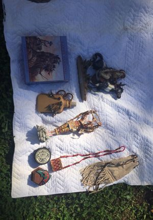 Native American pieces, puzzle, statue, jewelry for Sale in Lacey, WA