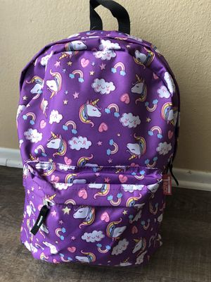 Large girl's purple unicorn backpack. New with tags for Sale in Fontana, CA