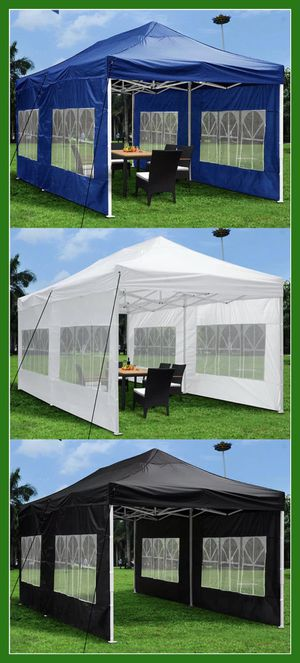 10x20 | 10 x 20 Easy Up Pop Up Canopy Tent with Side Walls for Sale in Chino, CA