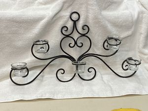 Wall hanging votive holders and Cast Iron Frame for Sale in Garland, TX