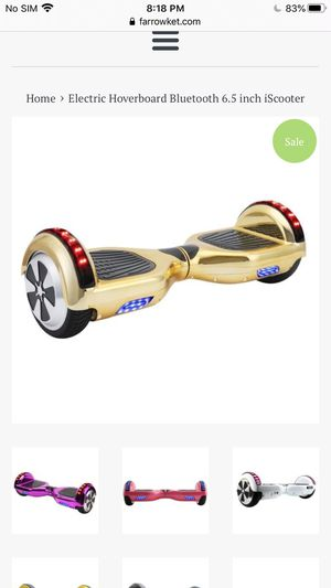 Hoverboard for sail only 70 without charger works fine for Bluetooth too for Sale in Harrisburg, PA
