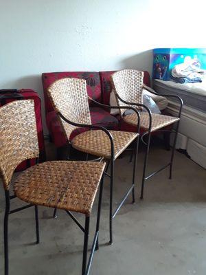 SET 3 SILLAS ALTAS for Sale in Manteca, CA