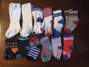8 Baby Bibs & 12 Baby Boy Socks for Sale in Joliet, IL