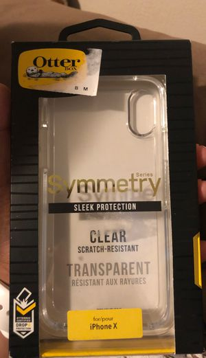 iPhone X otter box clear case for Sale in Kennewick, WA