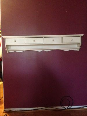 White bathroom shelve with 4 drawers for Sale in Rockville, MD