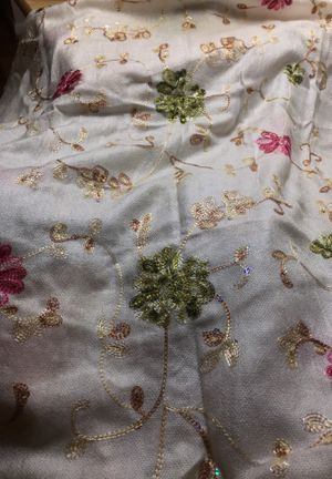 Off white shawl/ Kashmir material for Sale in Fort Washington, MD