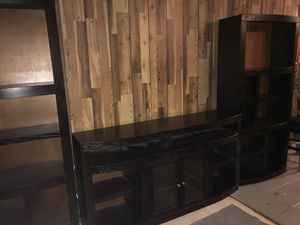 3 piece TV entertainment set- 1 console and 2 sides for Sale in Beaumont, TX