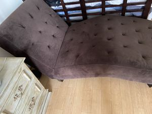 Brown chaise lounge - super comfortable! for Sale in Washington, DC
