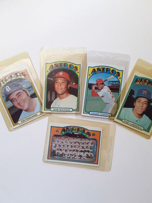 1972 Topps baseball 5 cards for Sale in Los Angeles, CA