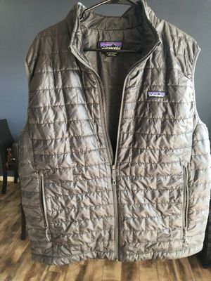 Mens Patagonia Nano Puff Vest , Forge grey color size xl for Sale in Corona, CA