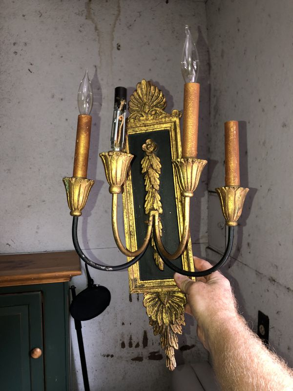 Antique candelabra wall sconce