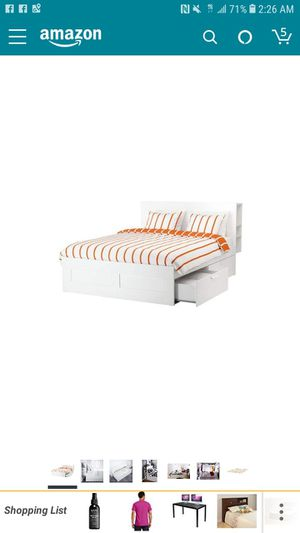 IKEA BRIMNES BED FRAME AND HEAD BOARD SIZE FULL for Sale in Crofton, MD